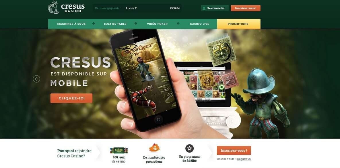 cresus casino mobile