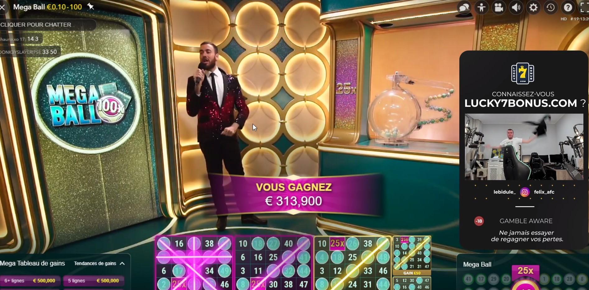 Bidule gagne 300k € au Mega Ball
