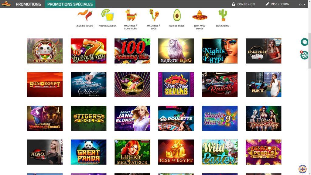 jeux la fiesta casino