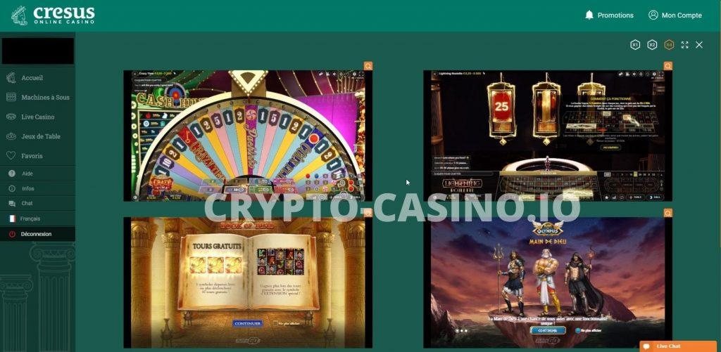 Jeux Cresus Casino