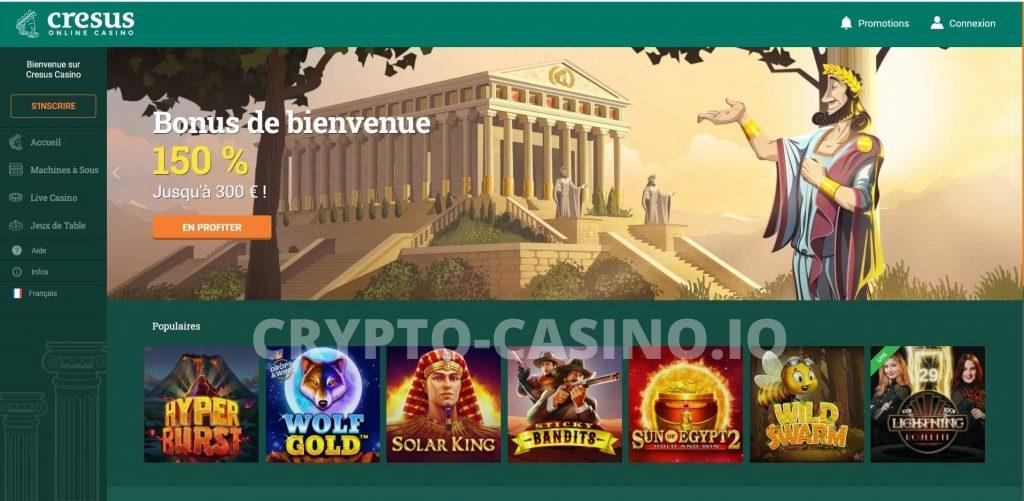 inscription cresus casino
