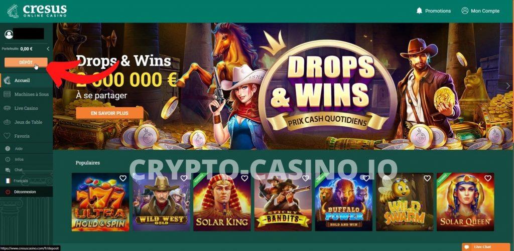 Dépôt cresus casino