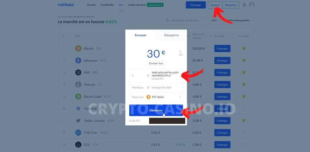 dépôt bitcoin bitcasino 2