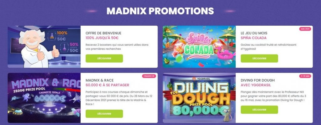 bonus madnix casino